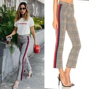 MOTHER THE INSIDER ANKLE PLAID JEANS NWOT